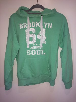 Pullover grün mit Kapuze