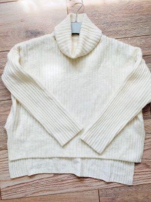 H&M Maglione dolcevita bianco-bianco sporco