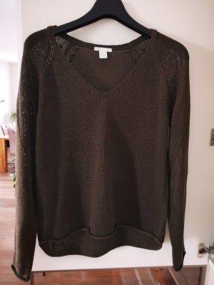 H&M Pullover a maglia grossa cachi