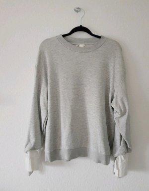 Pullover H&M Grau Hemdoptik Oversize Gr. M