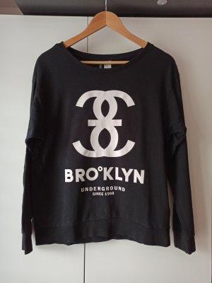 H&M Sweatshirt wit-zwart
