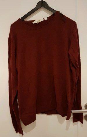 Pullover, h&m, LOGG neu, mit Alpaka, L, rot