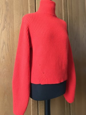 H&M Premium Pull tricoté rouge