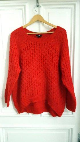Pullover H&M rot oversize Größe S