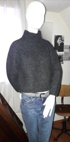 Jersey de cuello alto gris antracita lana de alpaca