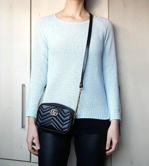 Reserved Sweter z grubej dzianiny jasnoniebieski-błękitny Poliakryl