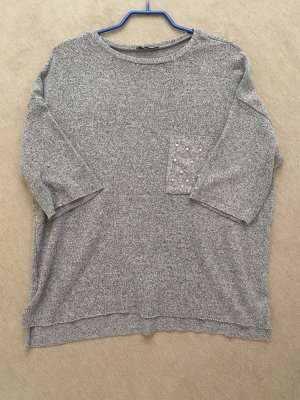 Pullover (hellgrau) mit Perlen Zara Größe S
