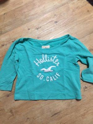 Hollister Camisa tipo Carmen turquesa
