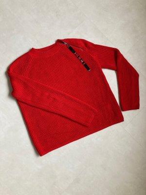 HUGO Hugo Boss Knitted Sweater red cotton