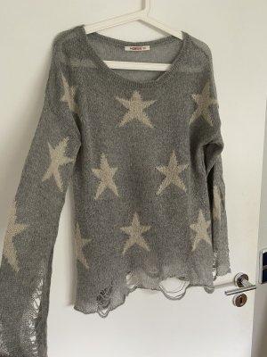 Kontatto Maglione lavorato a maglia grigio chiaro-beige chiaro