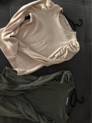Pullover in beige und grün