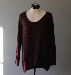 C&A Długi sweter bordo-głęboka czerwień