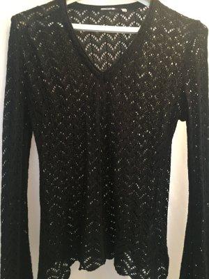 H&M Crochet Sweater black cotton