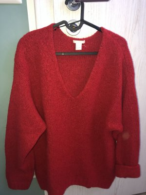 H&M Basic Coarse Knitted Sweater brick red