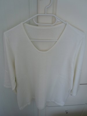 Atelier Goldener Schnitt Short Sleeve Sweater white cotton