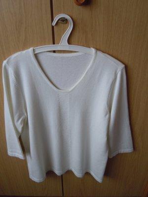 Atelier Goldener Schnitt Pull à manches courtes blanc coton