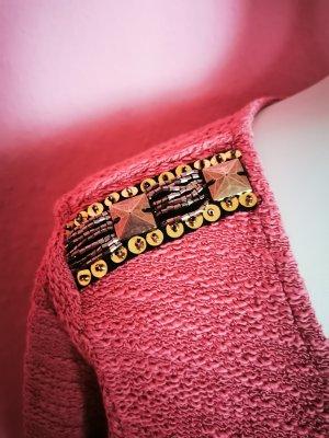 AJC Sweter z okrągłym dekoltem Wielokolorowy Tkanina z mieszanych włókien