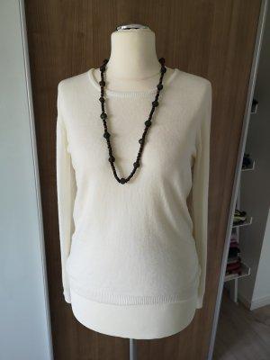 Assuili Kaszmirowy sweter w kolorze białej wełny