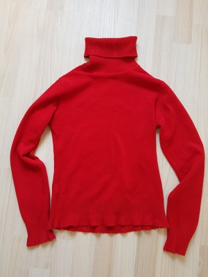 Pullover Kaschmir Wolle Stretch kirschrot