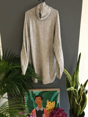 H&M Vestido tipo jersey gris claro