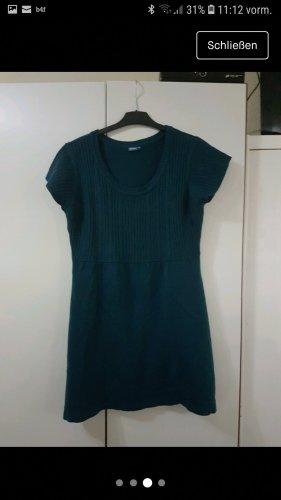 Swetrowa sukienka turkusowy