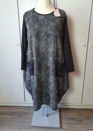 italienische Mode Robe pull noir-gris