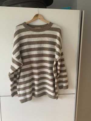 Pull & Bear Sweater Dress light brown-cream