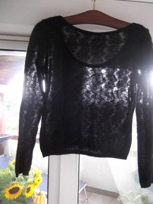 Pullover kurz Rückenteilmit Ausschnitt