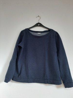 Pullover L dunkelblau weiß