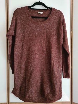 Noisy May Abito maglione marrone chiaro-marrone-viola