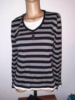 Bluhmod Kraagloze sweater zwart-grijs