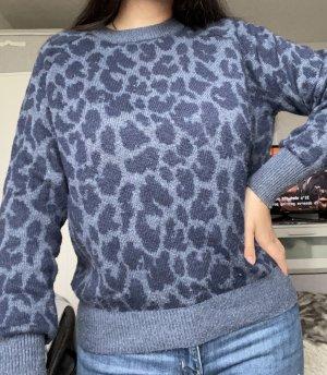 pullover leooptik blau