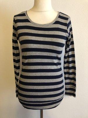 H&M Długi sweter szary-ciemnoniebieski