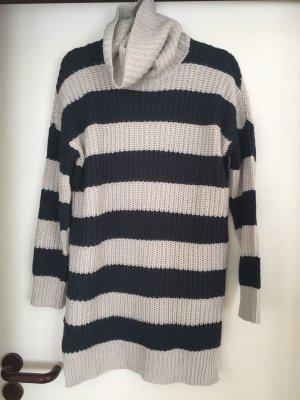 Noisy May Oversized Sweater oatmeal-dark blue