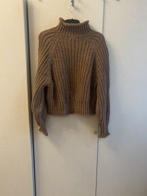 H&M Pullover all'uncinetto marrone chiaro-beige