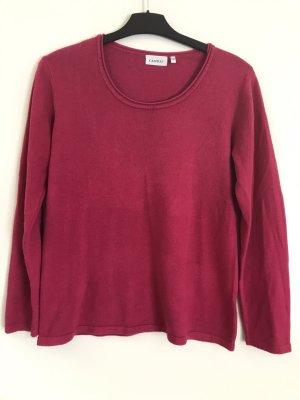 Canda Fine Knit Jumper raspberry-red-magenta