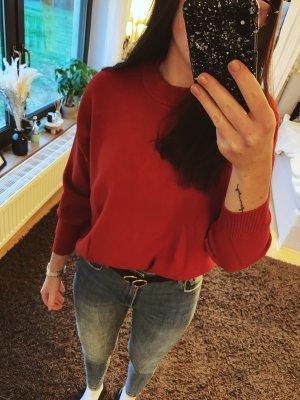 Mango Polarowy sweter ciemnoczerwony