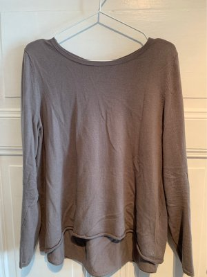 Marc O'Polo Pull en laine gris brun-taupe