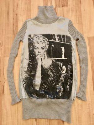 Sweater dark grey-anthracite silk