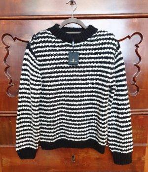 Pullover Massimo Dutti schwarz weiß gestreift neu mit Etikett