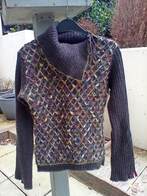 Pullover Miss Sixty Gr. S 36 Braun Wolle