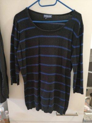 Biaggini Cienki sweter z dzianiny czarny-niebieski