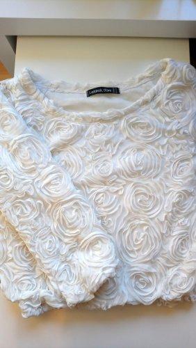Pullover mit 3D Rosen