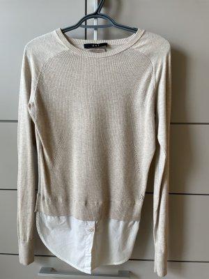Pullover mit angesetzten Blusenuntersatz