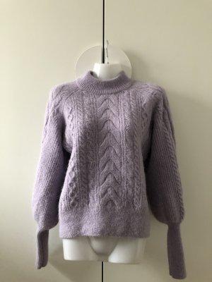 H&M Premium Jersey trenzado púrpura
