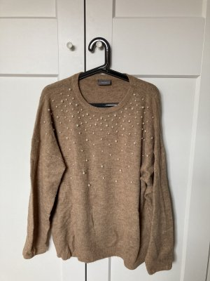 Yessica Pull oversize beige-chameau
