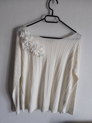 Pullover mit Blüten  Creme