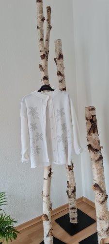 Pullover mit Blumen in silbrr gr. M