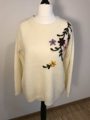 Creatif Classics Knitted Sweater natural white