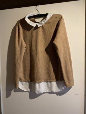 Primark Colletto camicia marrone-bianco